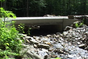 New replacement culvert (span) that meets the new standards