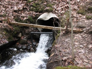 Photo of a perched culvert