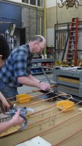 Preparing to hang copper tubing