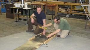 Putting grooves in aluminum