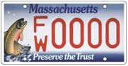 Photo: Sale of license plates such as this fund the Massachusetts Environmental Trust program