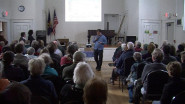 Pipeline presentation in Cummington, MA by Berkshire Environmental Action Team's Bruce Winn