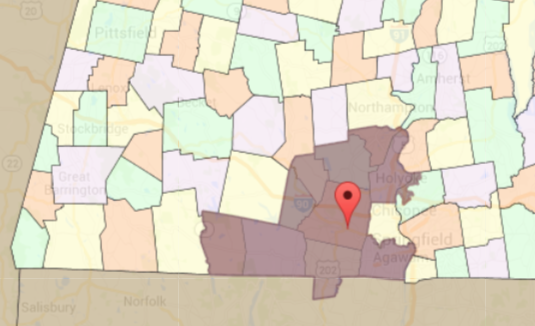 map of Senator Humason's district.