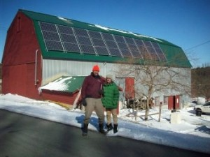 Photo of barn with solar panes, Indian Line Farm, South Egremont, MA