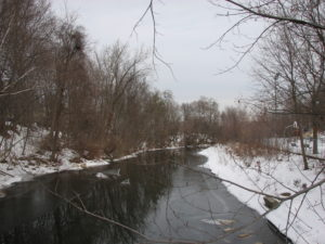 A view of the West Branch of the Housatonic River near Dorothy Amos Park
